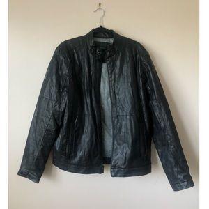 Calvin Klein Faux Leather Jacket Size Large